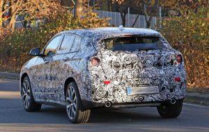 шпионские фото автомобиля BMW X2