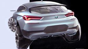Скетчи и эскизы будущего автомобиля BMW X2