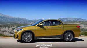 Появились изображения BMW X2 в кузове пикап и кабриолет