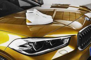 Для BMW X2 сделали золотые кроссовки