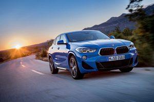 Фото кузова BMW X2 синего цвета