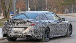 Автомобиль BMW M8 Gran Coupe проходит дорожные испытания